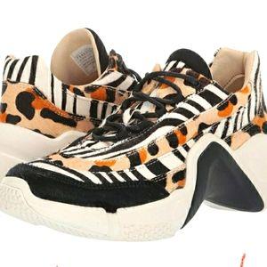 Mark Mason Animal Print Sneakers